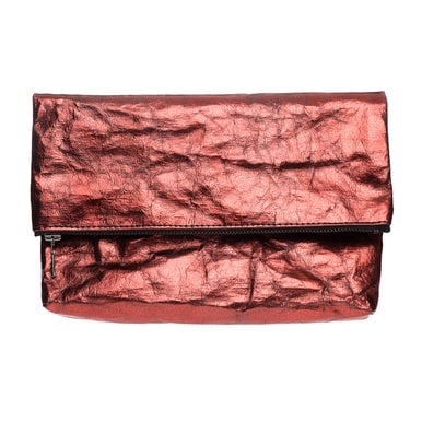 Folded Clutch | Design Papier Langackerhäusl | Artikelnummer: Design_020_metallic_rot