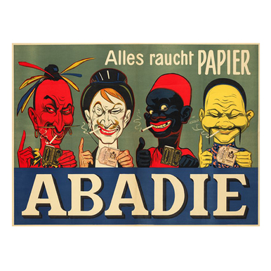 Abadie-Alles raucht Papier | Advertising Poster around 1905 | Artikelnummer: POD-PI-2731-A1S