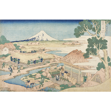 Thirty-six Views of Mount Fuji | Mount Fuji as seen from the tea plantation Katakura from Suruga province | Artikelnummer: PODE-KI-11025-A1S