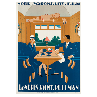 Londres-Vichy-Pullman. Nord Wagons Lits | Advertising Poster 1927 | Artikelnummer: POD-PI-632-A3S