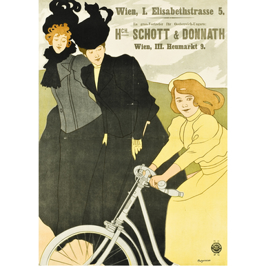 Advertising poster 1899 | Schott und Donnath bicycles | Artikelnummer: PODE-PI-2794-A3S