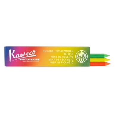 Kaweco Highlighter Mine 5,6mm / Pencil lead highlighter 5,6mm | Mix à 3 Farben / Mix of 3 colours | Artikelnummer: Kaweco_mine