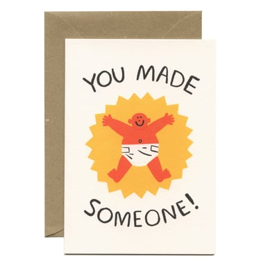 You Made Someone! Geburtskarte / Birth Greeting Card |  | Artikelnummer: wrap_cari03