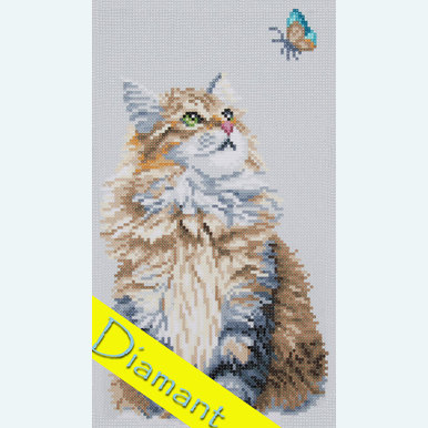 Forest Cat - Diamond Painting pakket - Lanarte |  | Artikelnummer: ln-184322