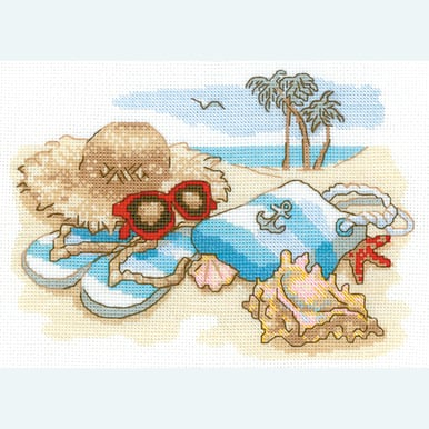 Holiday by the Sea -  borduurpakket met telpatroon Riolis |  | Artikelnummer: rio-1719