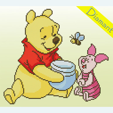 Winnie the Pooh and Piglet - Disney - Diamond Painting pakket - Vervaco |  | Artikelnummer: vvc-175277
