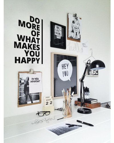 DO MORE OF WHAT MAKES YOU HAPPY Wandtattoo Spruch, motivierendes Wandsticker Zitat |  | Artikelnummer: 55800408