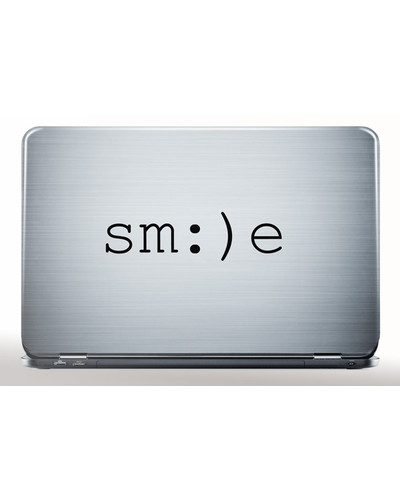 SMILE Notebook Sticker HAPPINESS Laptop Aufkleber  |  | Artikelnummer: 92643687