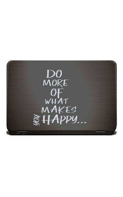 DO MORE OF WHAT MAKES YOU HAPPY | Notebook Sticker  |  | Artikelnummer: 109564183