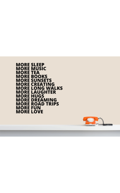 MORE GOOD THINGS TO-DO-Liste Wandsticker Spruch  |  | Artikelnummer: 74554327