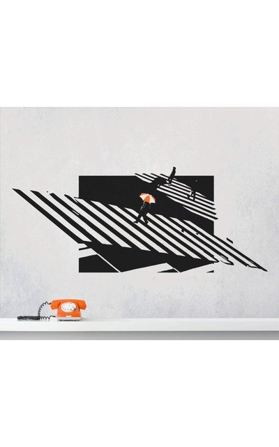 ZEBRA CROSSING NEW YORK Wallart Wandtattoo OP-ART  |  | Artikelnummer: 73867987