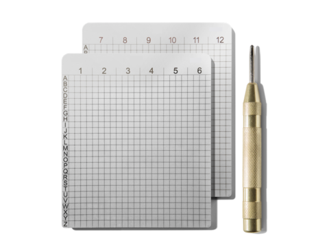 Steelwallet Double Pack | Four engraved sheets and two punchers | Product code: 0003c