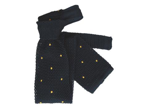 Knit Tie Yellow Dots | Product code: 5002