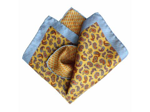 blue yellow paisley  | Product code: 3074