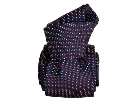 Six-Fold-Tie Navy white red | Product code: 7001