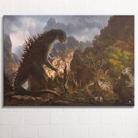 Godzilla 1 Panel Canvas