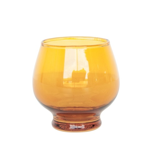 Urban Nature Culture tea light holder swinging 70s yolk yellow