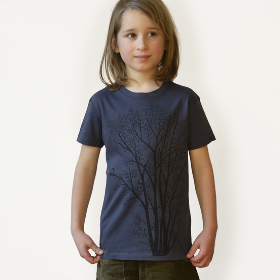 Klibbal med Skata T-shirt | india ink grey | artikelnummer: Cmig364
