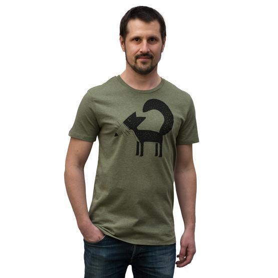 new products f140c bde2c Cmig Franzi Fuchs T-Shirt tannengrün meliert - Herren t ...