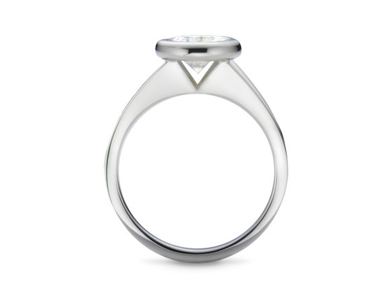 Diamantring Stil 0.30 Karat in Top Qualität | 950er Platin - Brillant in E - Lupenrein | Artikelnummer: STIPT030E