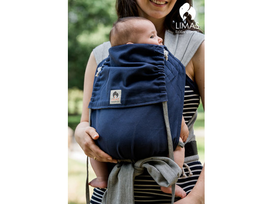 limas limas babytrage blau grau ab geburt tragehilfen. Black Bedroom Furniture Sets. Home Design Ideas