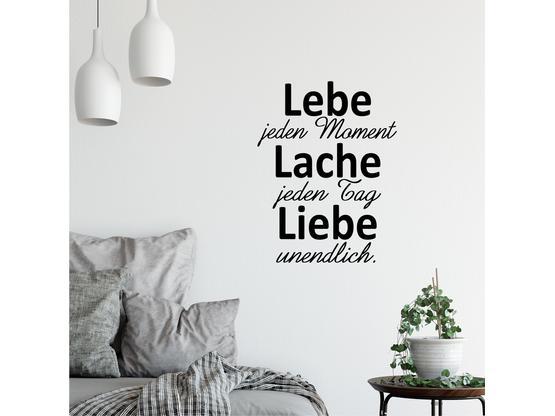 Greenluup Wandtattoo Spruch Lebe Lache Liebe Wandspruch Lebe Jeden