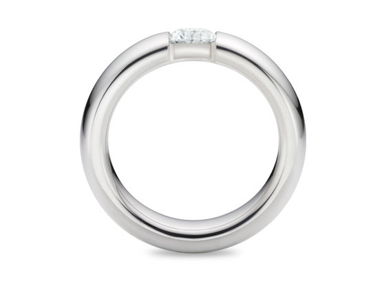 Diamantring Form 0.70 Karat in Top Qualität | 950er Platin - Brillant in E - Lupenrein | Artikelnummer: FORPT070E