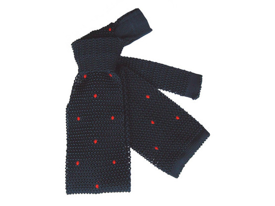 Knit Tie Red Dots | Product code: 5004