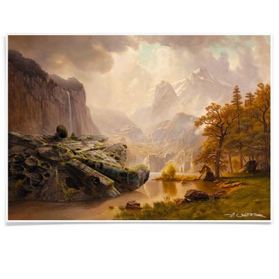 Falcon at the Mountains Print