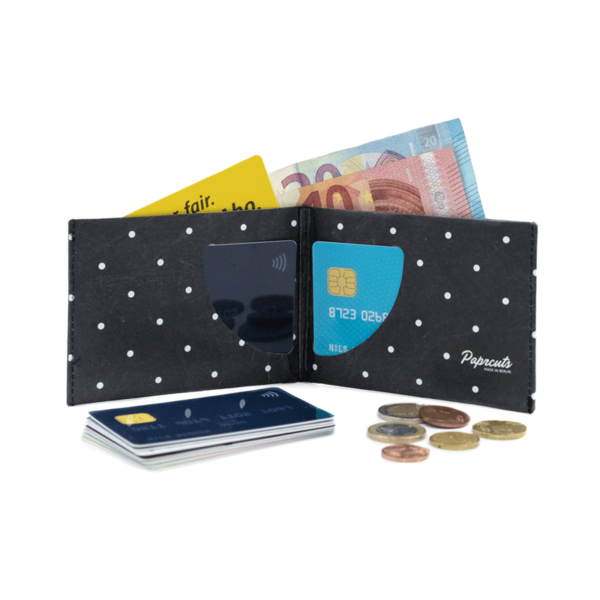 Paprcuts RFID secure Wallet Polka Dots