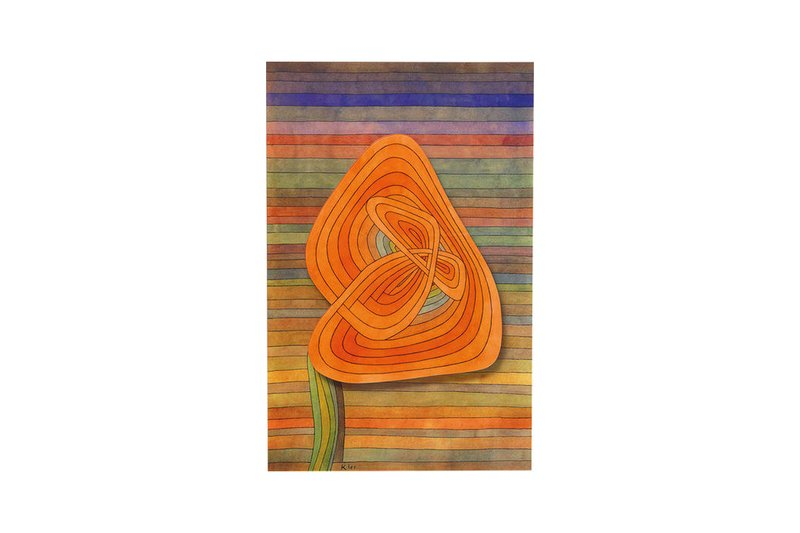 "Wandbild ""Lonely Flower"" nach Paul Klee"
