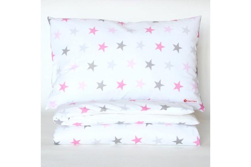 Bettwäsche Sterne Rosa Pink Grau 100 X 135 Bettwäsche Kissen
