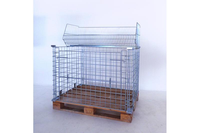 gebrauchtware stapelkorb f r gitterboxen gebrauchtware h. Black Bedroom Furniture Sets. Home Design Ideas