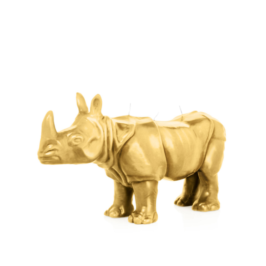 Black Edition Wiedemann Kerzen Nashorn goldmetallic