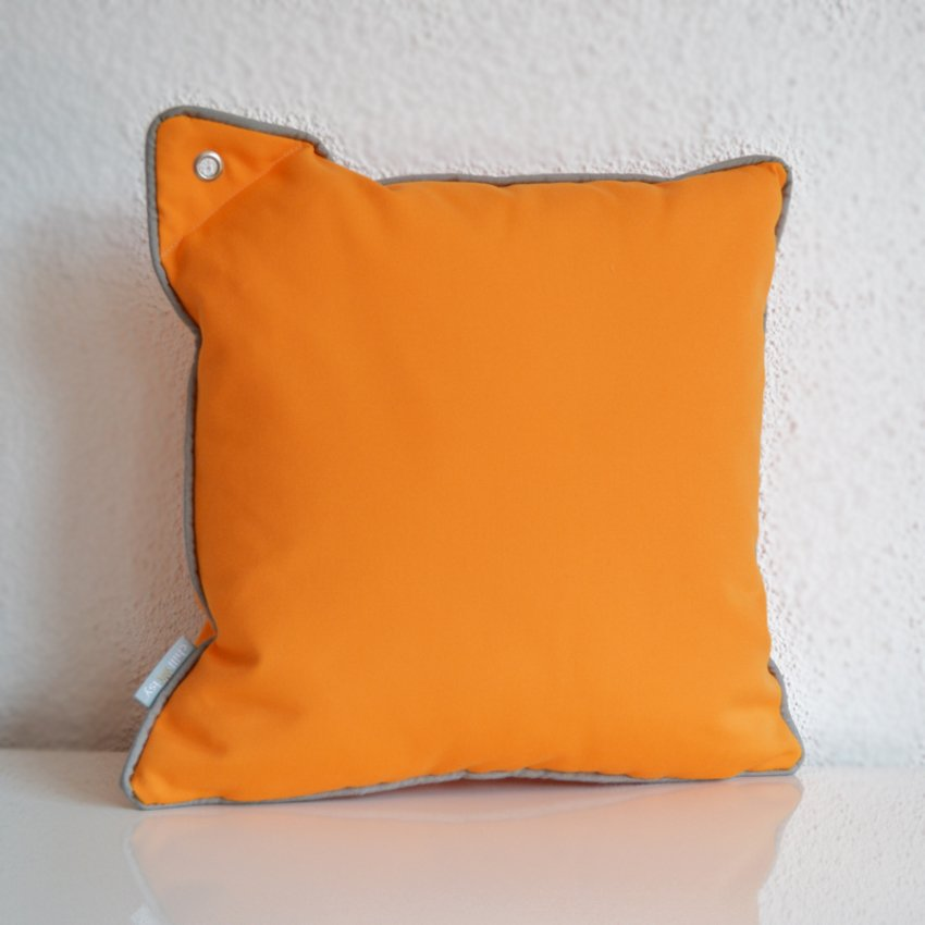 Yacht Collection Princess Classic Tangerine orange colored cushions with eyelet