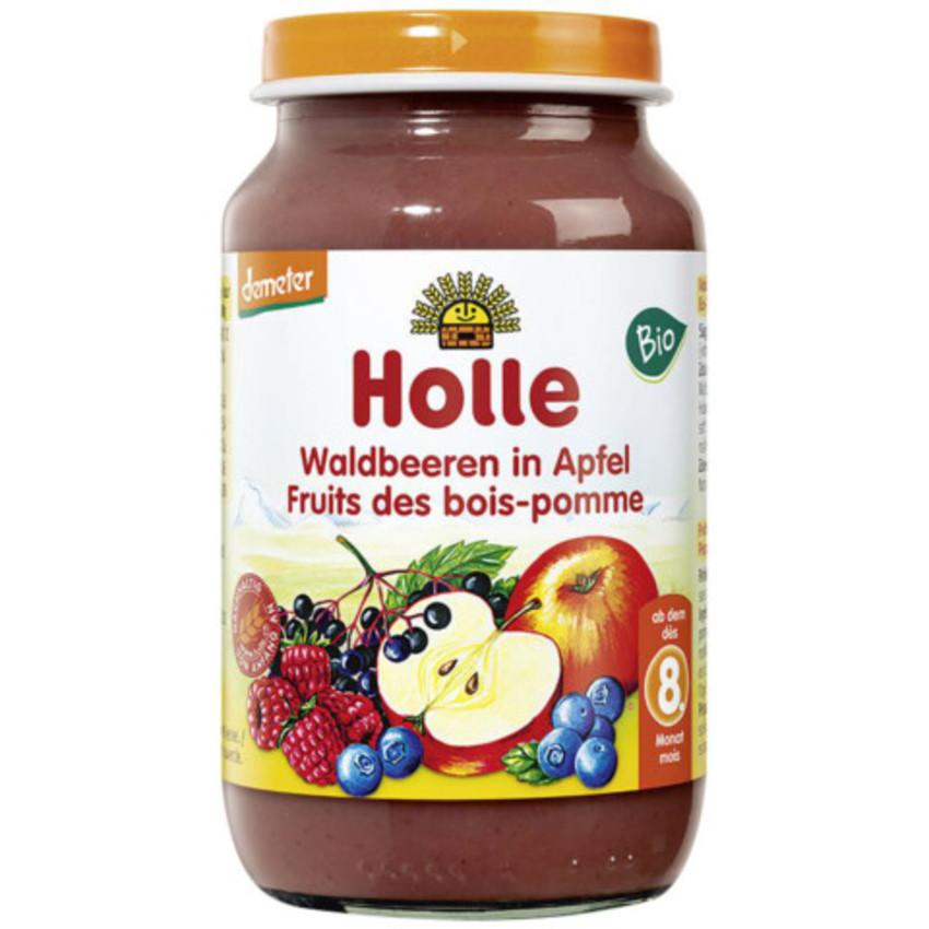 HOLLE Waldbeeren in Apfel 8M+ 220 g