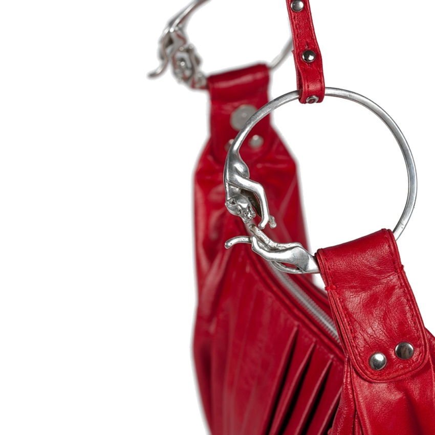 goldmarie Tasche PANTHER MITCH Leder Rot
