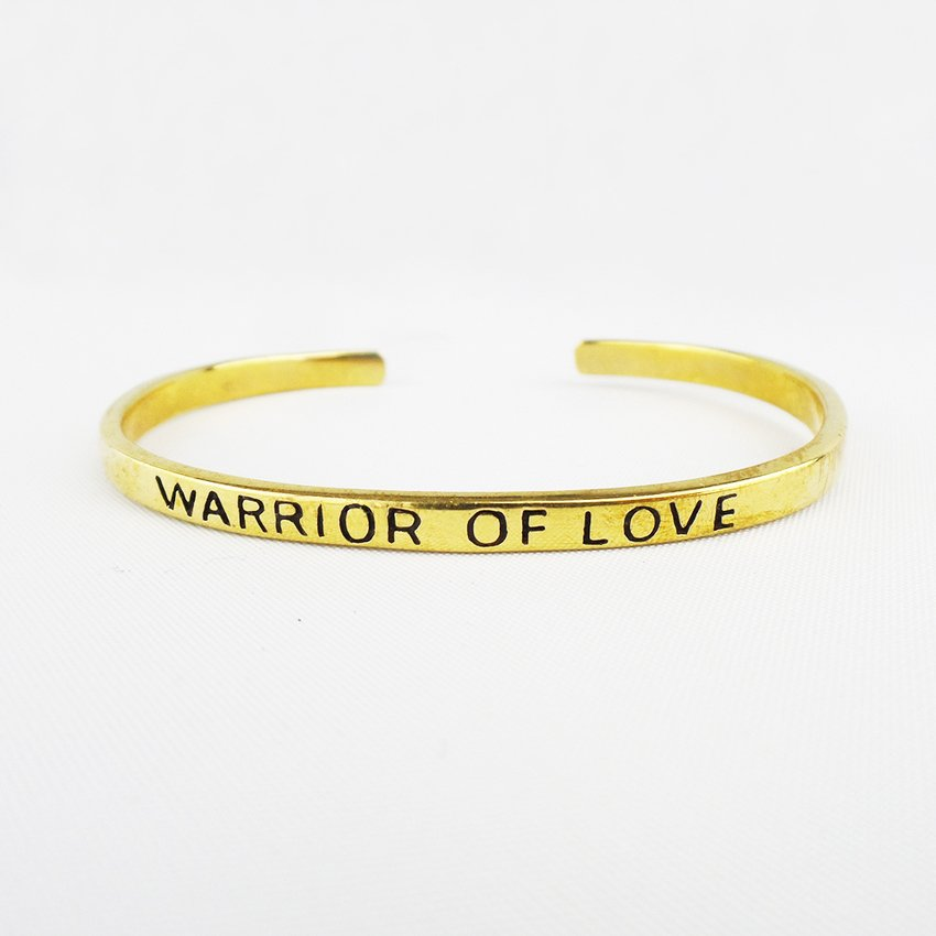goldmarie Armreif WARRIOR OF LOVE Messing