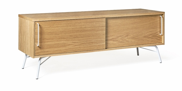 tv konsole ashburn aus holz metall wei. Black Bedroom Furniture Sets. Home Design Ideas