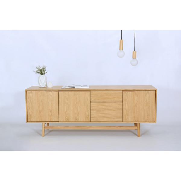sideboard skandinavisch aus holz. Black Bedroom Furniture Sets. Home Design Ideas