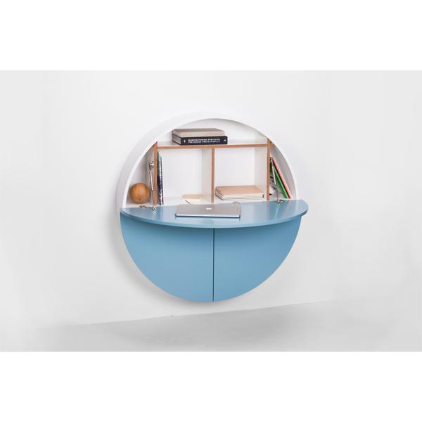 Design schreibtisch aus holz online kaufen for Schreibtisch rund