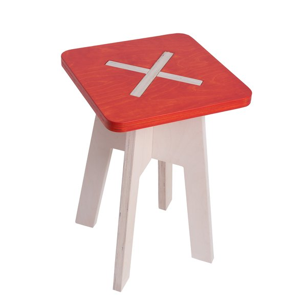 Hocker Design Holz rot