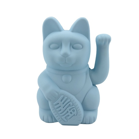 Donkey Products Winkekatze LUCKY CAT hellblau blue