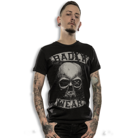 BADLY T-Shirt Vintage Skull-1