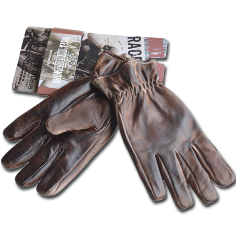 King Kerosin Biker Work Glove Faded Brown