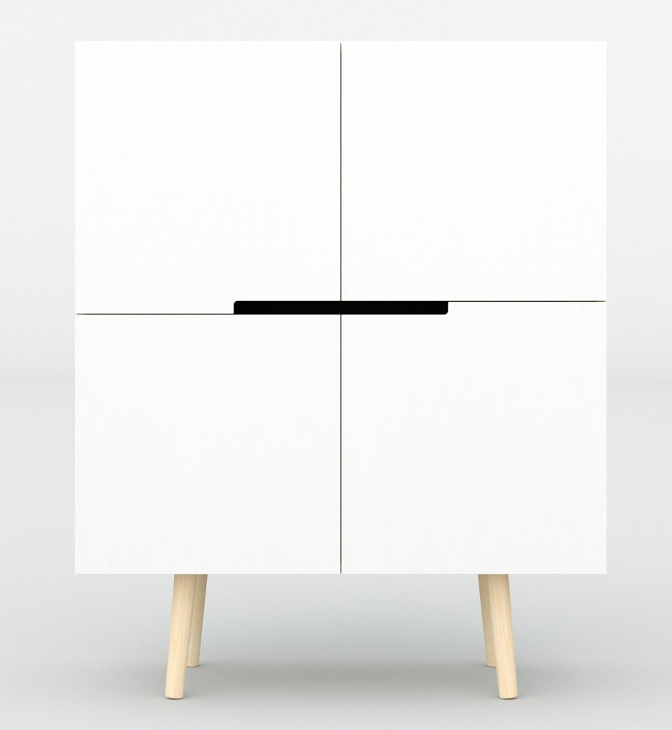 designer kommode in wei skandinavisch. Black Bedroom Furniture Sets. Home Design Ideas