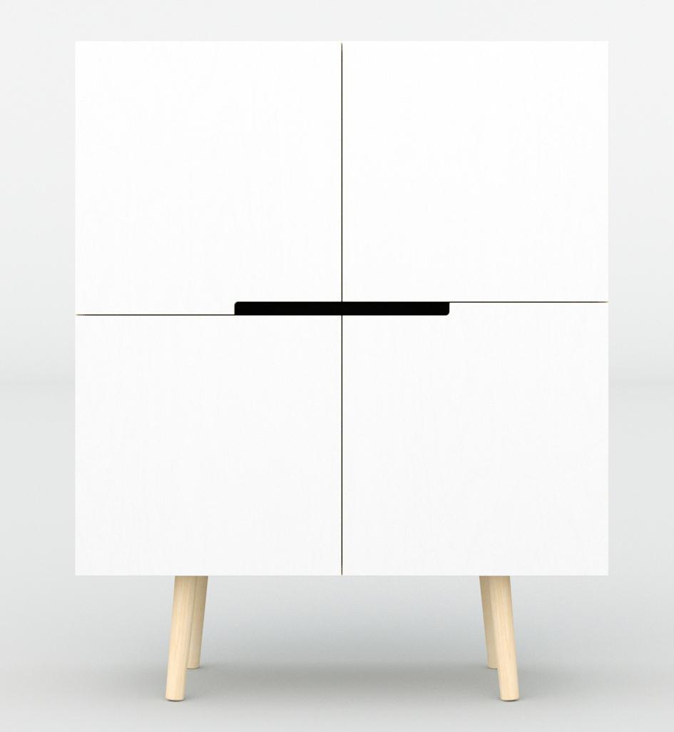 Designer-Kommode in weiß - skandinavisch