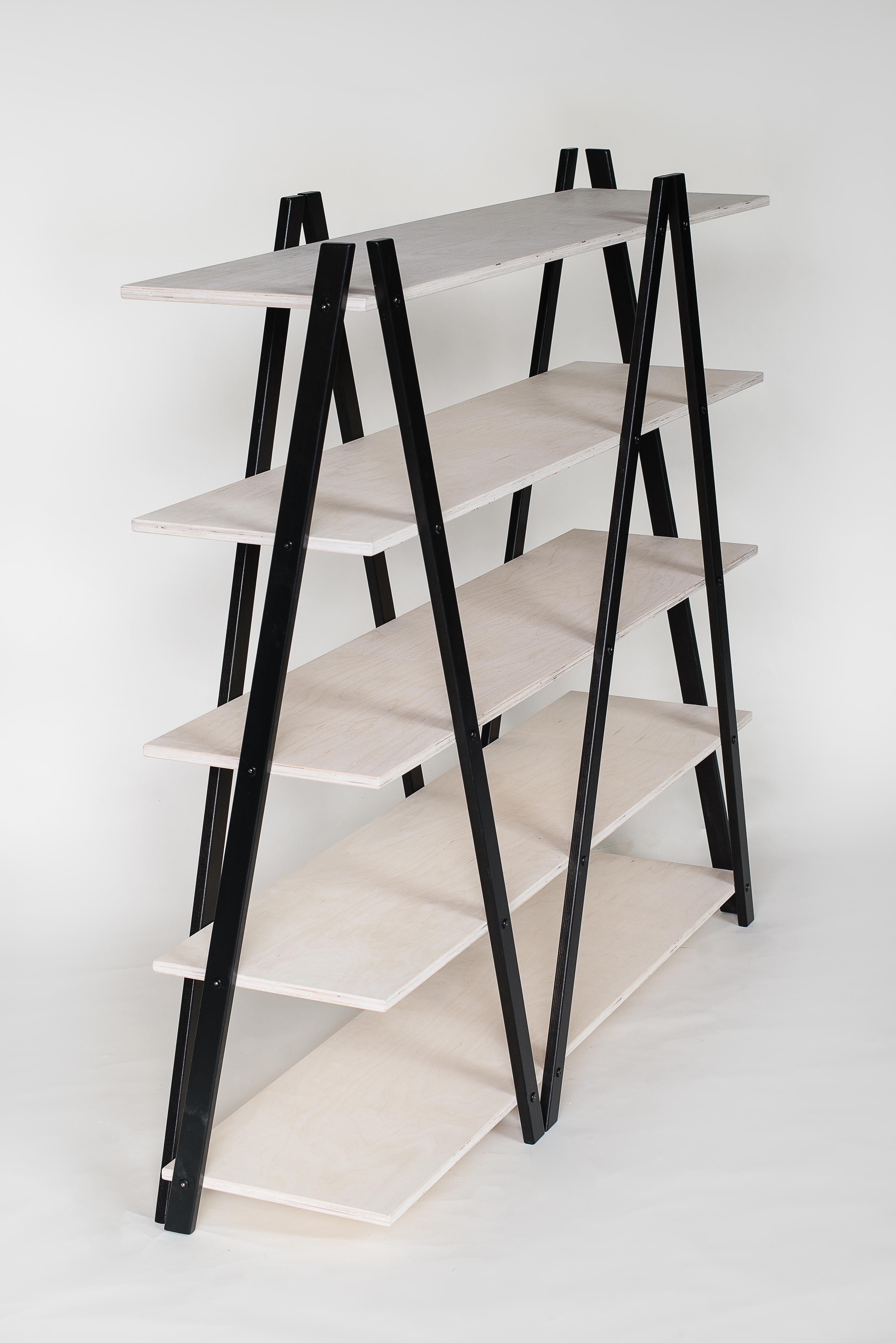 regal raumteiler zig zag nordisches design. Black Bedroom Furniture Sets. Home Design Ideas