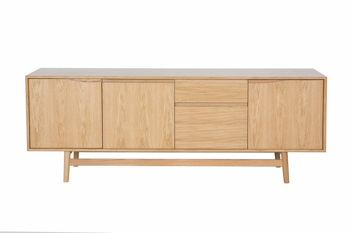 sideboard aus eichenholz mid century design. Black Bedroom Furniture Sets. Home Design Ideas