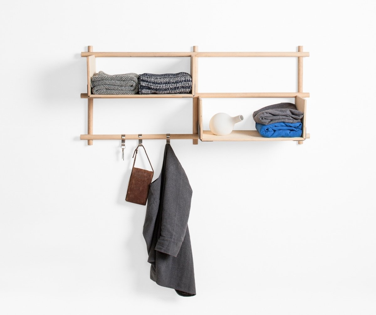 designer wandregal foldin aus holz von emko. Black Bedroom Furniture Sets. Home Design Ideas